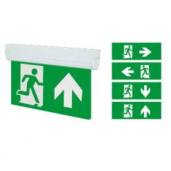 4-in-1 LED Emergency Sign